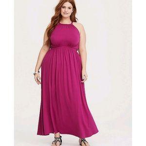Torrid Raspberry maxi dress New